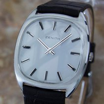 Zenith Swiss Made Rare Manual Mens Stainless Steel Dress Watch...