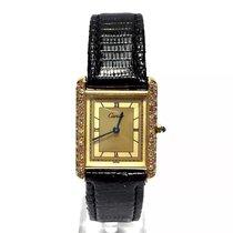 Cartier Must De Vermeil Tank Gp Argent Ladies Watch W/...