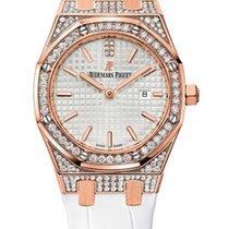 Audemars Piguet Royal Oak Quartz 18K Rose Gold Diamonds Ladies...