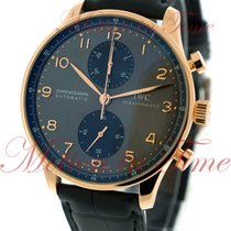 IWC Portuguese Automatic Chronograph, Grey Dial - Rose Gold on...