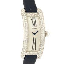 "Cartier ""Ballerine"" 18k WG and Diamond Assymetrical"