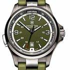 Victorinox Swiss Army Night Vision 42mm Green Steel Battery Watch