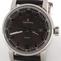 Chronoswiss Pacific Brown Automatic Steel Mens 40mm New W/ Box...