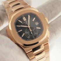 Patek Philippe Rose Gold Nautilus Chronograph On Bracelet 5980/1R