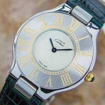 Cartier 21 Quartz Stainless Steel Swiss Luxury Mid Size Watch...