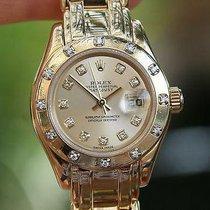 Rolex 80318 Ladies 29mm Masterpiece 18k Gold Original Factory...