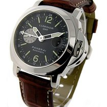 Panerai PAM00088 PAM 88 - 44mm GMT Marina in Steel - on Brown...