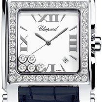 Chopard Happy Sport Square Mother of Pearl Dial Blue Leather...