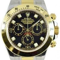 勞力士 (Rolex) DAYTONA STEEL GOLD BLACK DIAMOND DIAL 116523 116503