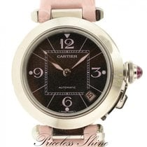 Cartier Pasha 2324 Automatic Date Black Stardust Dial W/ Pink...