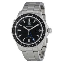 TAG Heuer Aquaracer GMT Automatic Black Dial Steel Men's...
