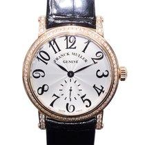 Franck Muller New  Vintage 18k Pink Gold Diamond Silver...