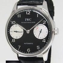 IWC Portugieser 2000 7 Days Stainless Steel Black Dial Watch...