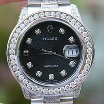 Rolex Datejust 36mm Steel 18k Gold President Diamond 06