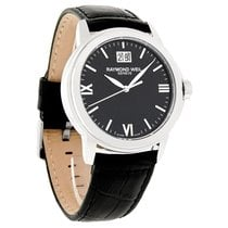 Raymond Weil Tradition Mens Leather Swiss Quartz Watch...