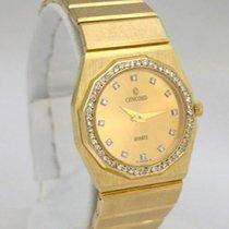 Concord Ladies 14k Yellow Gold Concord Quartz Diamond Dial...