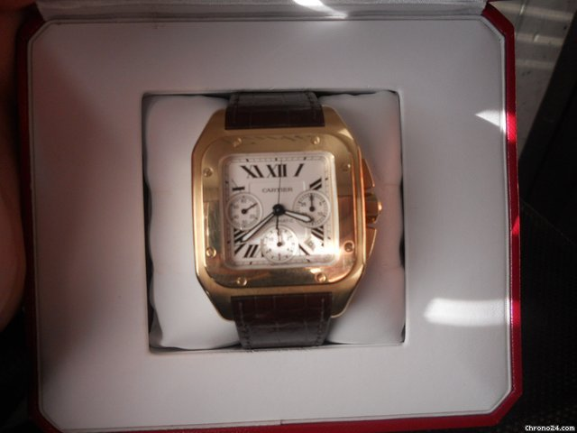 Cartier SANTOS 100 XL CHRONOGRAPH YELLOW GOLD AUTOMATIC