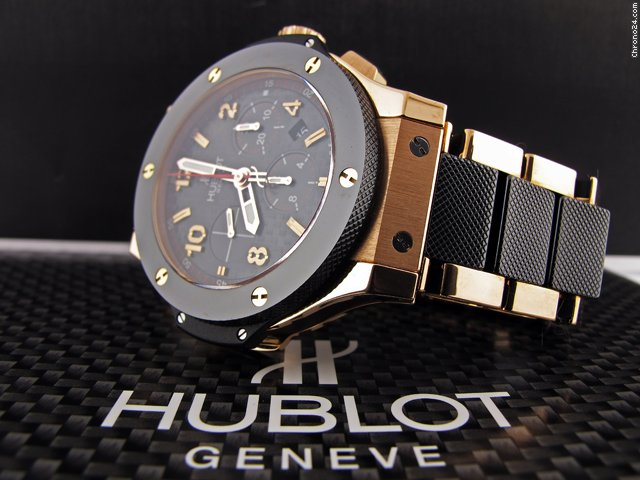 Hublot BIG BANG 18K ROSE GOLD CHRONO CERAMIC CARBON FIBER $24,995