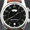 Girard Perregaux Time Zone Alarm GMT, steel with crocod...