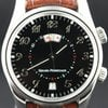 Girard Perregaux Time Zone Alarm GMT, steel with crocodile strap
