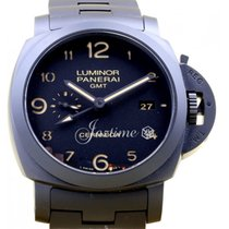 Panerai PAM 438 Luminor GMT Tuttonero Black Ceramic Men's...