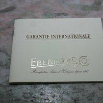 Eberhard & Co. vintage warranty booklet traversetolo model...