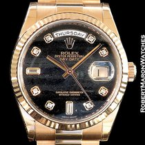 Rolex 118235 Day Date 18k Everose Ferrite Dial W/ Diamond...