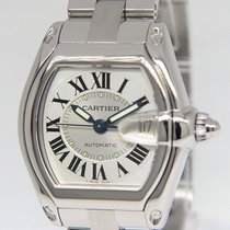 Cartier Roadster Stainless Steel Silver Dial Mens Watch 2510