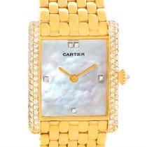 Cartier Tank Classic Paris Yellow Gold Mother Of Pearl Diamond...