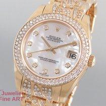 Rolex Oyster Perpetual Datejust 18K/750 Gelbgold- Diamanten(Di...