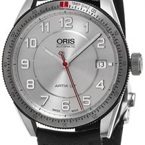 Oris Artix GT Automatic Steel Mens Strap Watch Date Silver...