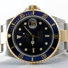 Rolex Mens 18K/SS Submariner - Blue Dial - 16613 No Holes Model