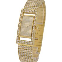 Piaget Classique Ladies Rectangle with Full Pave Diamonds