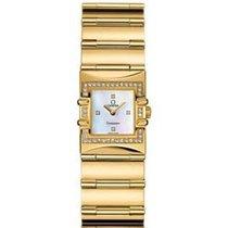 Omega Constellation Quadra in Yellow Gold with Diamond Bezel