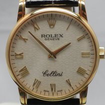 Rolex Cellini 5116/8 Jubilee Crocodile Box/Papers K Serial 32mm