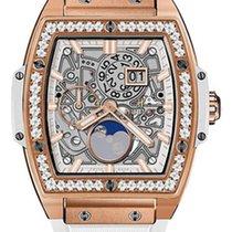 Hublot : 42mm Spirit of Big Bang King Gold White Diamonds Watch