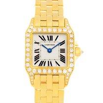 Cartier Santos Demoiselle Ladies 18k Yellow Gold Diamond Watch...