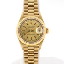 Rolex President Datejust Ladies 18K Yellow Gold 26MM Watch 69178