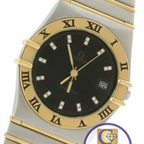 Omega Constellation 34mm Diamond Roman Two-Tone Gold Full-Bar