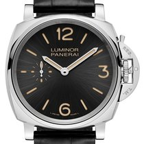 Panerai PAM 676 Luminor Due 3 Days Acciaio Sun-Brushed Black...