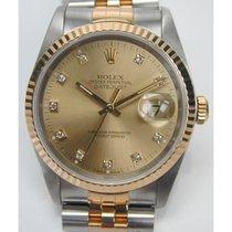 Rolex Oyster Perpetual, Chronometer, Stahlgold mit Brillanten,...