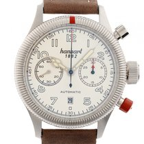 Hanhart Pioneer Twin Control Stahl Automatik Chronograph...