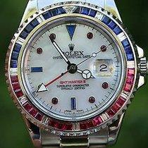 Rolex Vintage Gmt Master Steel 40mm Pepsi 16750 Diamond...