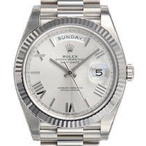 Rolex Day-date President 40mm 228239 Mens White Gold Silver...