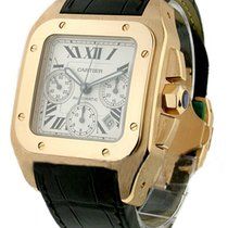 Cartier W20131Y1 Santos 100 XL - Chronograph in Rose Gold - On...