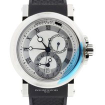 Breguet Marine Automatic Dual Time Stainless Steel 42mm On Rubber
