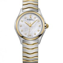 Ebel Wave Lady Steel Gold Bracelet, Mother of Pearl, Diamond