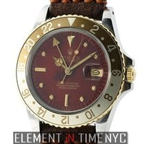 Rolex GMT-Master Steel & Yellow Gold Root Beer Red Nipple...