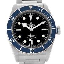 Tudor Heritage Black Bay Blue Bezel Steel Watch 79220