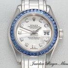 Rolex Pearlmaster Datejust 80309 Weissgold 750 Diamanten Saphire